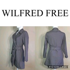 Wilfred | silky belted double breasted snap trench